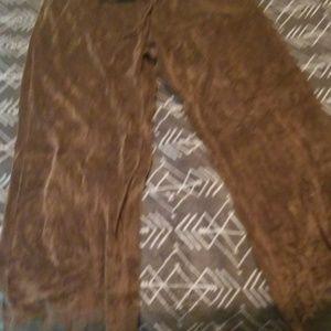 Brown velvet type sweatpants